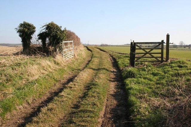 Bridleway at Low Toynton