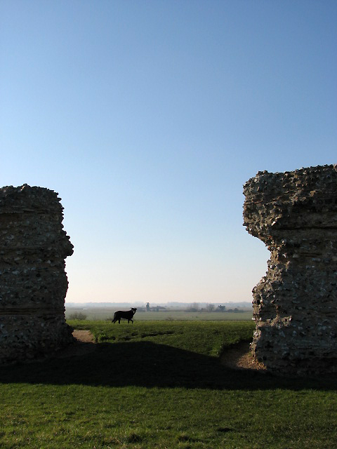 The Roman fort of Gariannonum - east wall