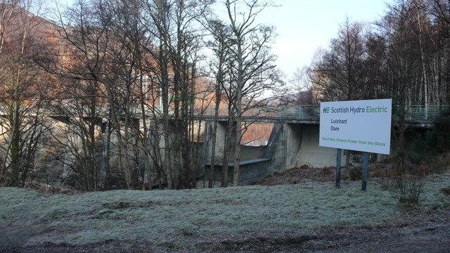 Loch Luichart Dam