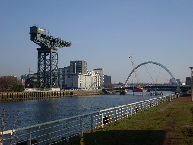 View along the River Clyde to Finnieston