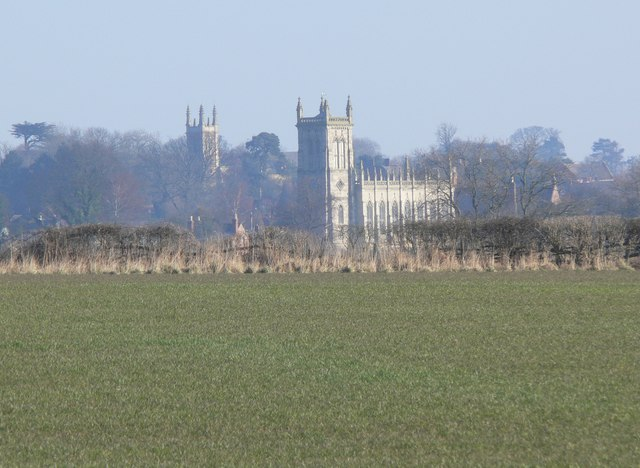 Church Towers across the Fields