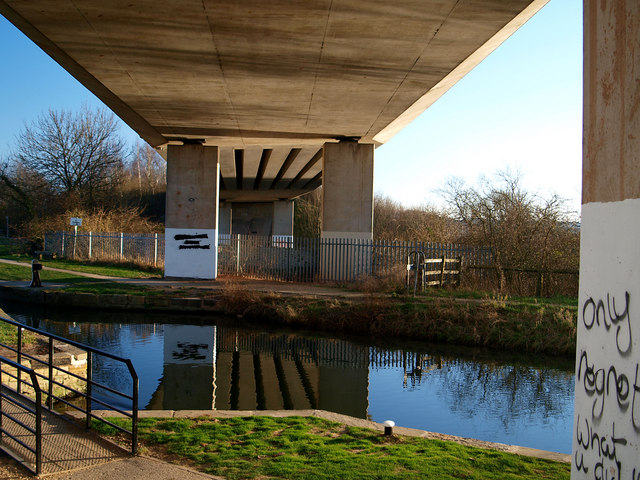 A57 viaduct over the Chesterfield Canal