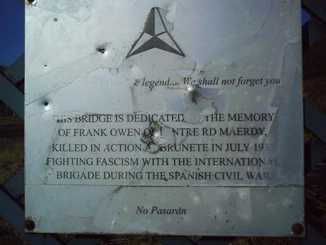 Frank Owen memorial