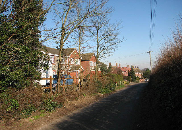 View east along Church Road