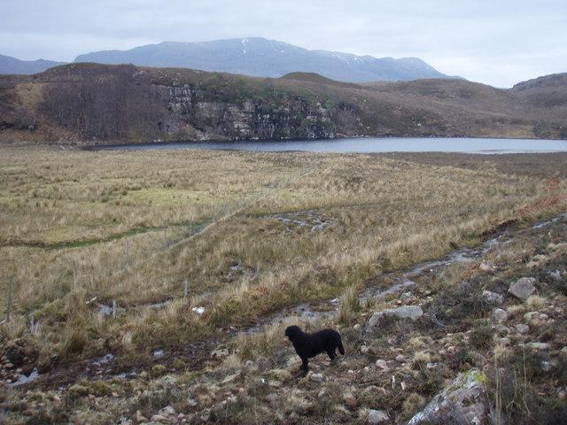 Boggy ground by Loch na Fideil