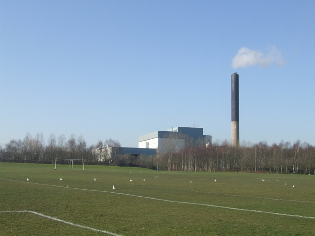 Playing fields downwind of the incinerator