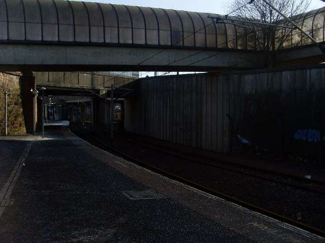 Westbound platform of Exhibition Centre Station
