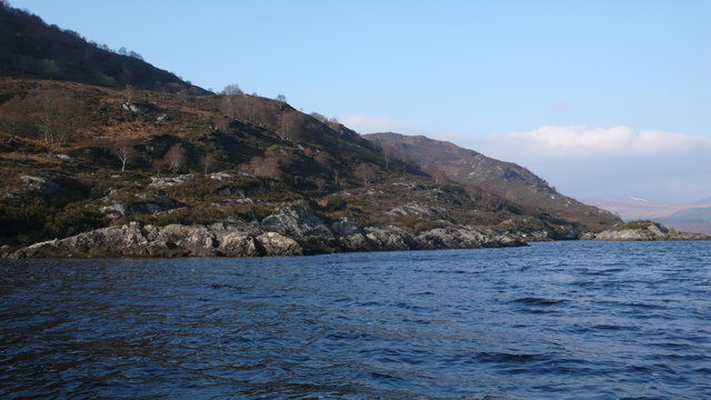Loch Luichart shoreline
