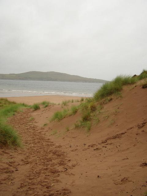 Through the dunes to Gruinard Beach