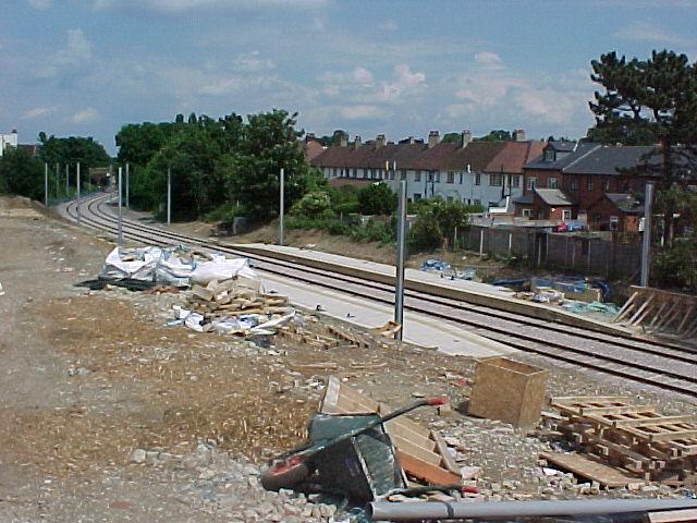 Blackhorse Lane Tram Stop - under construction