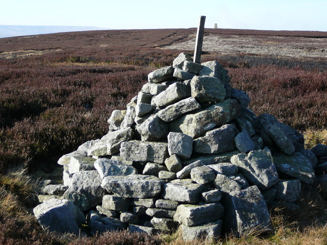 Five Pikes Trig Point (background)
