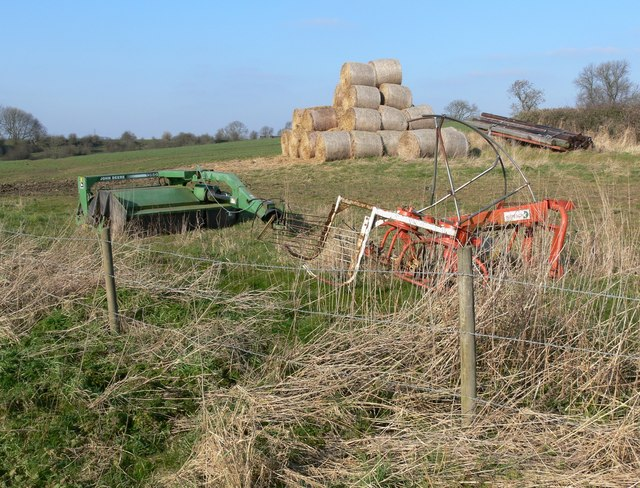 Farm machinery near Marefield in Leicestershire