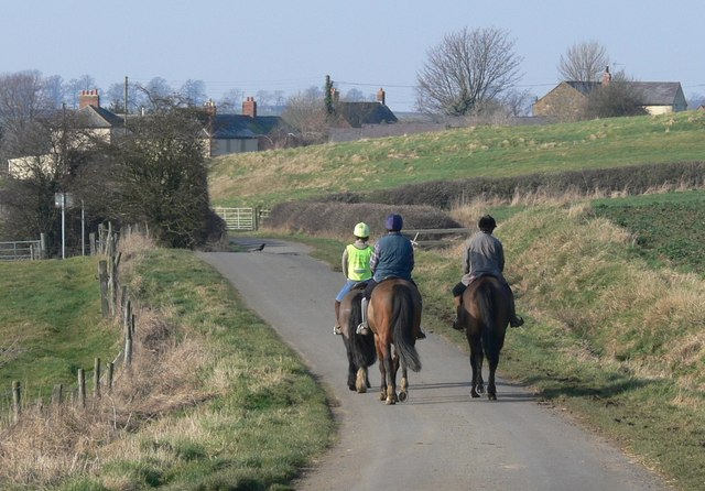 Horse riders at Marefield in Leicestershire