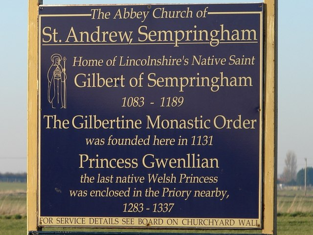 Birthplace of the Gilbertine Monastic Order
