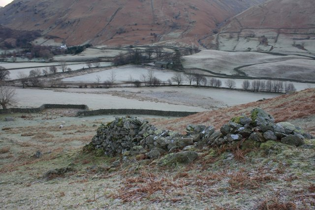 Old Wall on the Climb to High Hartsop Dodd