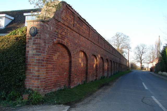 Arched Brick Wall