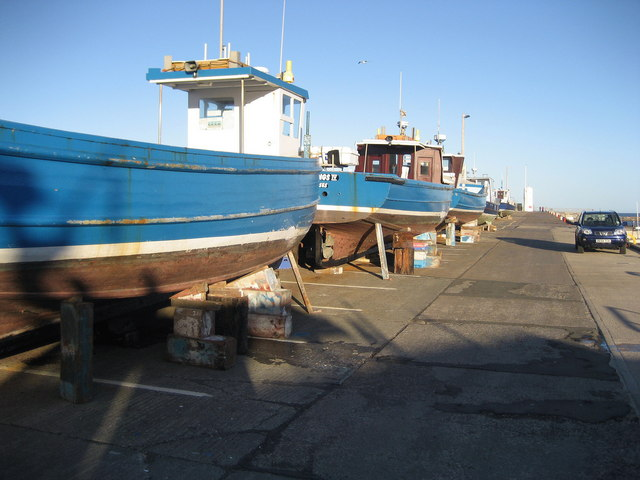 Quayside at Seahouses Harbour