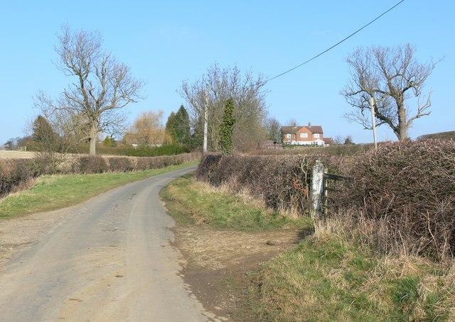 Marefield Lane towards Burrough Court Farm