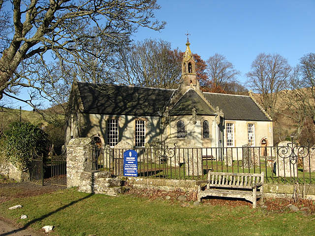 Yarrow Parish Kirk in February