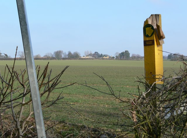 Public footpath to Burrough on the Hill