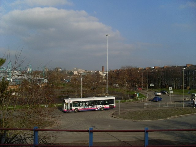 Clydebank Bus Station from train