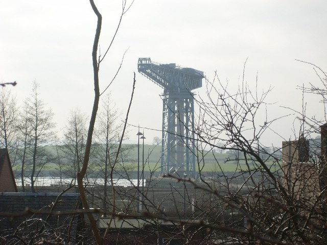 View to Clydebank Titan Crane from Clydebank train station