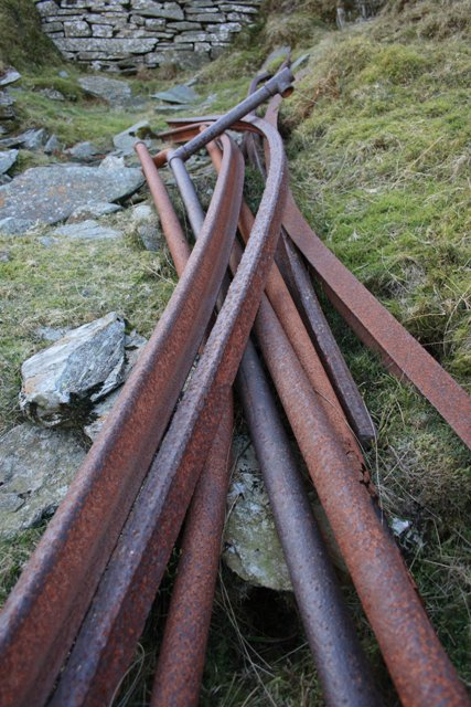 Abandoned Rails and Pipe, Caudale Quarry