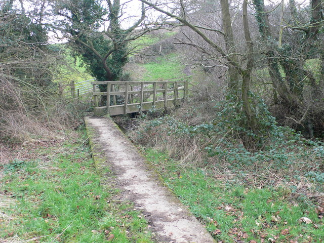 Footbridge near Bryn Faigas Farm, Buckley