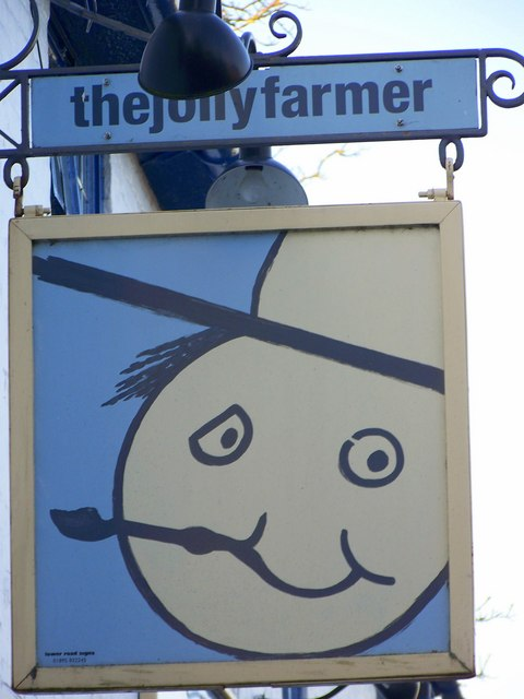 Sign for the Jolly Farmer