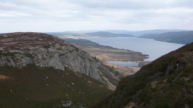 Creag Bhreac and Loch nan Geddes