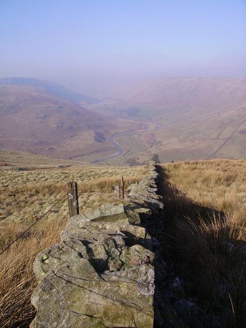 Wall above Borrowdale