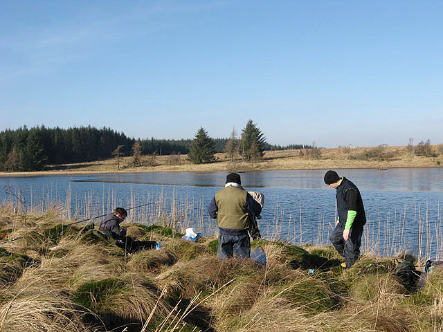 Anglers at Crooked Loch