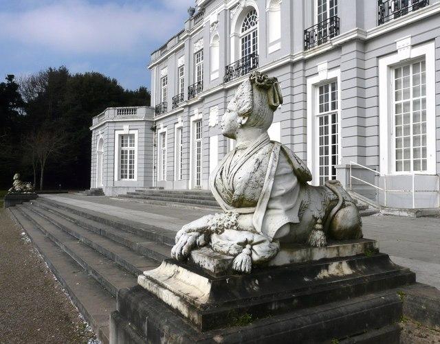 Sphinx figure, Oldway mansion, Paignton