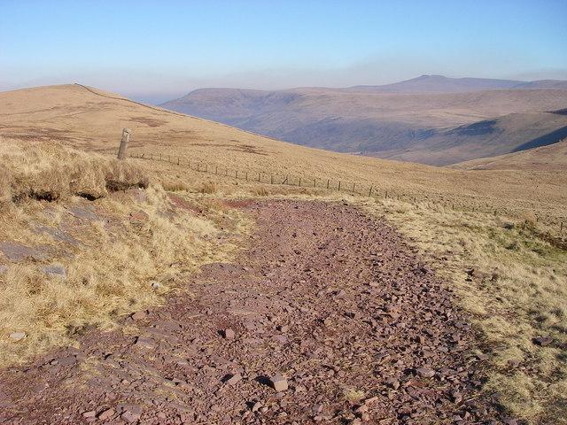 Towards Bwlch y Duwynt