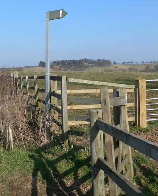 Public footpath south of Burrough on the Hill