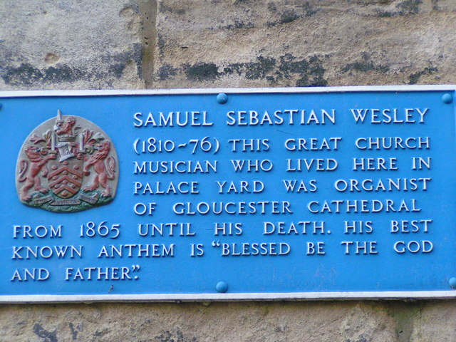 Plaque to Samuel Wesley
