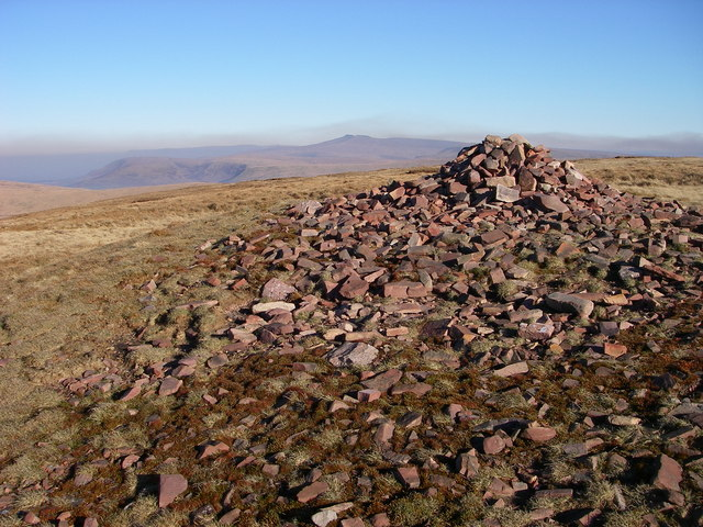 Ancient cairn on Fan Gyhirych