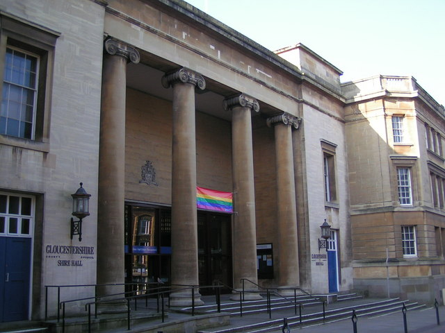 Main entrance to Shire Hall