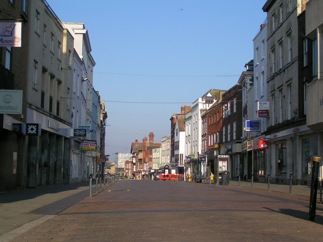 Westgate street from The Cross