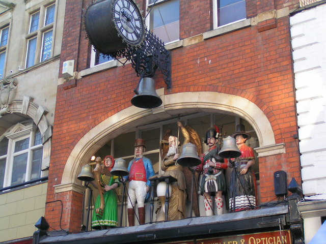 Mechanical Bell ringers on East Gate street