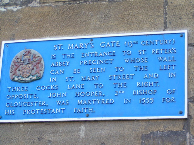 Plaque on St Marys Gate