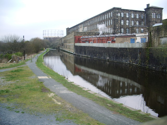 Smith and Nephew's mill and Leeds & Liverpool Canal