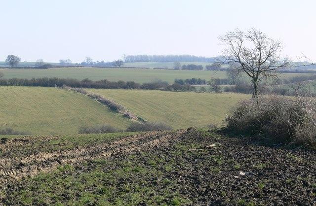 Farmland south of Somerby