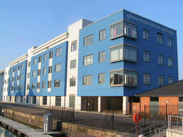 College by Gloucester dock
