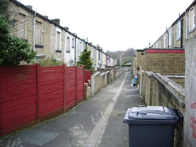 Back street, Brierfield