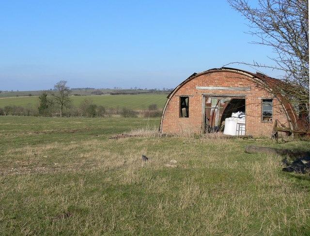 Nissen Hut near Owston in Leicestershire