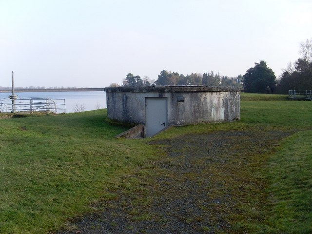 Cylindrical feature by Mugdock Reservoir