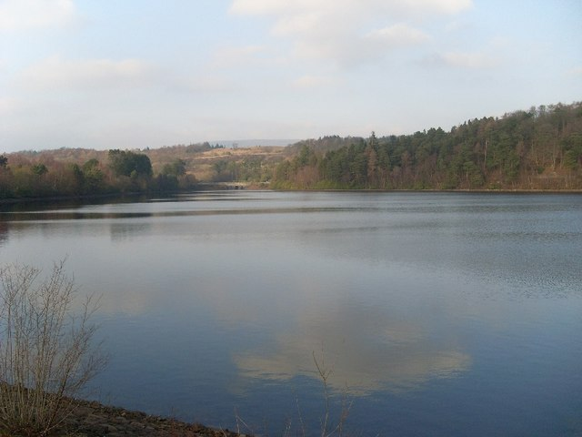 View across Mugdock Reservoir
