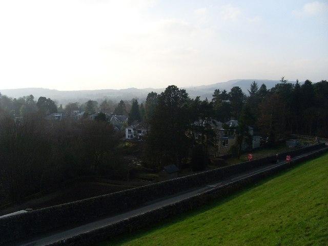 View back to Milngavie from Mugdock Reservoir