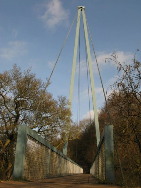 Footbridge over River Almond